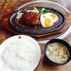 肉の万世 - 料理写真:ジャンボハンバーグランチ  ¥1704    小ライスに変更   -¥30