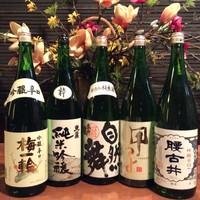 こだわり日本酒が充実!飲み比べセットもご用意しております!