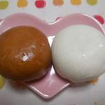 あさ川 - 茶色と白色
