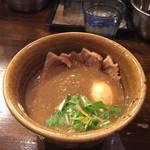 52369407 - 濃厚な魚介系スープ。ピリ辛も茶館感じる