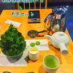 52376764 - かき氷ハーフ&煎茶セット