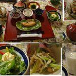 プチホテル コリンシアン - 朝食。良く手が入っています。プチホテルコリンシアン(北海道礼文島)食彩品館.jp撮影