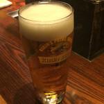 焼肉萬野ホルモン舗 - 生ビール。