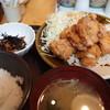 やまや - 料理写真:鳥の唐揚げ明太風味定食