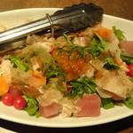京町個室居酒屋 魚御殿 - 彩り海鮮サラダ(雲丹しゃぶ料理コースの4000円コース)