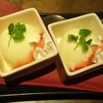 京町個室居酒屋 魚御殿 - 季節(ゆず)のシャーベット(雲丹しゃぶ料理コースの4000円コース)