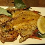 京町夜景居酒屋 魚御殿 - 豪華まるごと鮮魚の雲丹焼き(雲丹しゃぶ料理コースの4000円コース)