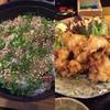 二代目与一 - 料理写真:りゅうきゅう丼ととり天
