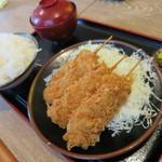 とんかつ 麻釉 - 串カツランチ860円(税込)。
