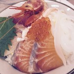 市場の食堂 - 海鮮丼 690円