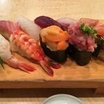 築地ビッグ寿司 - 【2016/6】おまかせ握り10貫(2150円)