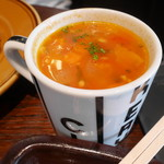 ザ シティ ベーカリー バー アンド バーガー ルービン - 料理写真:カップスープ300円。