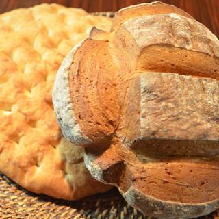 自家製2種類のパン