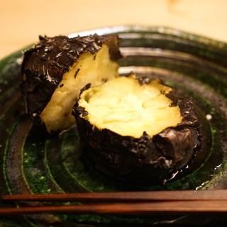 緒方 - 料理写真:賀茂茄子の黒焼き