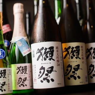 フレンチと絶妙マリアージュの日本酒が随時40種以上