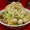 ラーメン二郎 - 料理写真:●小ラーメン(野菜,ニンニク,アブラ)+うずらの玉子