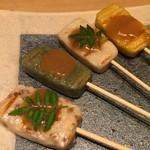 京都鴨そば専門店 浹 - 焼生麩の鴨味噌田楽