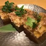 京都鴨そば専門店 浹 - 鴨皮の煮こごり