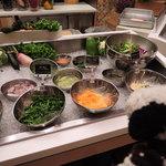 グルメバイキング オリンピア - ちびつぬ「健康のためにお野菜もいっぱい食べなくっちゃ」