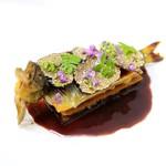 ラ・トゥーエル - 料理写真:鮎と黒イチジクのミルフィーユ シヴェ仕立て