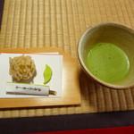 東林院 - 抹茶と菓子セット2008年Ver