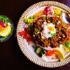 キーマカレーとチャイ なるせ堂 - 料理写真:6月平日限定の「パプリカとみょうがのエスニック風キーマ」。