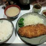 豚珍館 - ・「とんかつ定食(¥900)」
