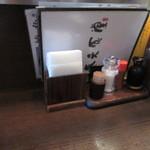 泰元食堂 - ちょうどお昼時だったんでテーブル席は当然満席、幸いにカウンターに空席があったんで其処に座らせていただいて食事です。