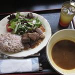 ぬふ・いち - Dセット スープカレー 和牛ステーキ