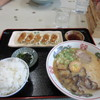 文化ラーメン - 料理写真:文化定食は小さめのラーメンと餃子とご飯のセットで700円です。