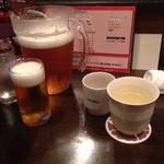 六本木 香和 - ビールはビッチャーでサービスあり