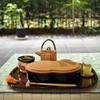 廚菓子くろぎ - ドリンク写真:わらび餅セットと前庭