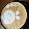 ブラックスミスコーヒー - ドリンク写真:サンドイッチのセットのカフェラテ