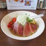 麺部屋 綱取物語 - 限定の涼麺 牛肉のタタキ(800円)