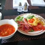 グランドプリンスホテル - 1505_グランドプリンスホテル新高輪_ラウンジでの朝食