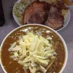 味噌王 仲間 - 黄蝮(ベジポタカレーつけ麺)+豚1枚
