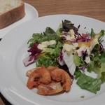 bottega - コースのサラダ&バゲット