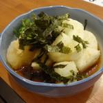 呑・さなみ - 長芋の揚げ出し450円