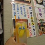 呑・さなみ - 酸っぱーレモンサワー500円