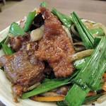 めん王  - 料理写真:セットのレバニラ炒め270円