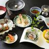 魚信 - 料理写真:鮑を使った会席は4500円から