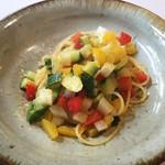 アレグロ コン ブリオ - 夏野菜とカラスミのスパゲッティーニ