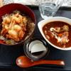 ターニップ - 料理写真:海鮮かき揚げ丼と牛スジシチュー(サラダ、ドリンク付き)1,000円