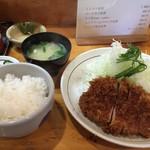 秀膳 - ロースカツ定食