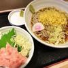 そばいち - 料理写真:冷したぬきそばと ねぎとろ小丼 700円