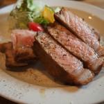 キッチンごりら - 料理写真:帯広どろぶたロースステーキ250g