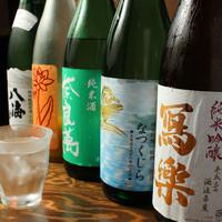 焼酎・日本酒にこだわっています。