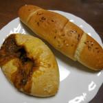 アムフルス - ザルツシュタンゲン(クミン)、焼きカレーパン(辛口)