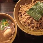 52940377 - ベジポタ味玉・肉入りつけ麺、H-1 極太胚芽麺、大盛り
