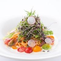 【期間限定7/1~7/31】カラフルトマトのモッツァレラクリームソース